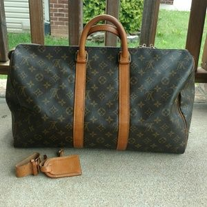 Louis Vuitton Authentic Keepall 35/Belt and ID Tag